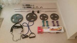Curl Bars and Weights with extras Windsor Gardens Port Adelaide Area Preview