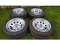 "15'S Classic steel wheels chrome ""MANGELS ""pcd 4X130/4X100 J7 ET15 VW,CORSA,BMW,CLIO"