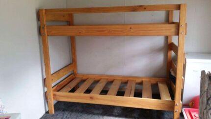 Solid wood bunk bed  Burton Salisbury Area Preview