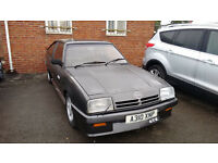 1983 Opel Manta GTE 2.0 Non-sunroof early model in Vauxhall Anthracite metallic. Original condition.