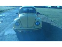 1972 vw beetle 1300 saloon. 12,000 miles on recon engine, all engine serice history