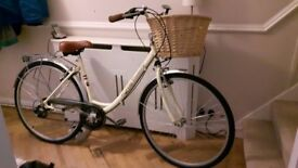 Cream vintage style Probike City Discovery adult ladies bicycle for sale