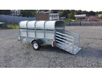 LIVESTOCK TRAILER 8x4 INDESPENSION TRAILOR - no trailer test needed to tow this trailer
