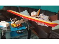 Chris Foss Large RC Plane Trainer Remote Control Air plane Air Craft Hobby Wooden Nitro Petrol
