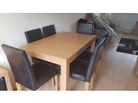 Extending Dining Table and 6 chairs, open to offers.