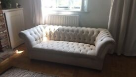 John Lewis Chesterfield Sofa Three Seater