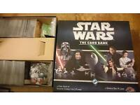 Star Wars: The Card Game + two deluxe expansions + all six force packs of The Hoth Cycle