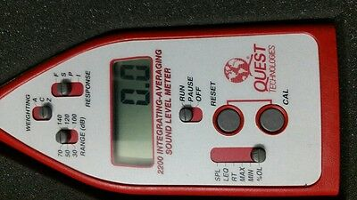 Quest Technologies 2200 Integrating-averaging Sound Level Meter