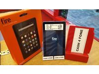 KINDLE FIRE 5TH GENE WITH BOX, USE BY WIFI