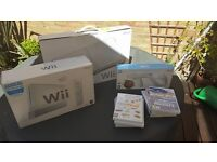 Wii console and wii fit package for sale.