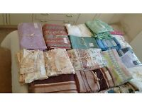 Various Curtains & some Double duvet sets