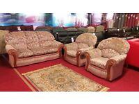 3 piece floral fabric suite