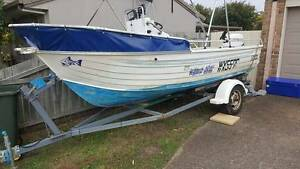 2005 4.8m Stacer Centre Console Boat and 2013 90hp Evinrude E-tec Mountain Creek Maroochydore Area Preview