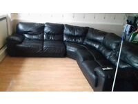 Large corner leather sofa