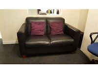 Leather look Sofa