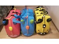 3 Trunki Ride-on Suitcases
