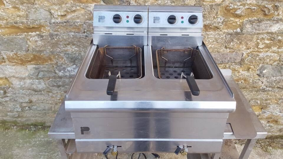 PARRY DOUBLE FRYER COUNTER TOP ELECTRIC