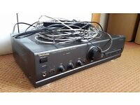 Home Stereo Amplifier with 5 Speakers + all leads and remote
