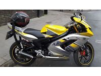 RIEJU RS2 125cc MATRIX 8 MONTHS M.O.T. VOICE ASSISTED ALARM SYSTEM. FOR SALE OR SWAPS