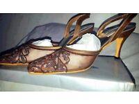 SALE PRICED Womens Ladies Diamond Detail Heels Shoes