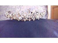 Gorgeous Gold And Diamanté Tiara Brand New