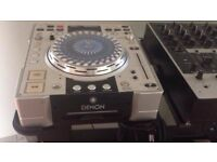 Denon cd player and mixer