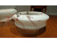 Antique Vintage Glass Ceiling Light Shade - Art Deco Style