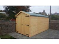 16ft x 8ft Wooden Garage