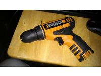 Ex display as new WORX 12v Li on drill/driver bare unit only