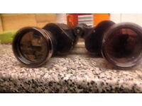 prinzlux binoculars 10x50 coated optics 272at 100yards look good pair binoculars with leather
