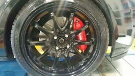 Rota fighter alloys 4x100 multi fit 205/40/17 pilot sport tyres