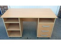 Used office/computer desk with shelves and drawers. £20.