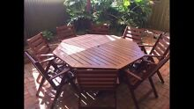 Wooden Octagonal Outdoor Dining setting Dover Gardens Marion Area Preview