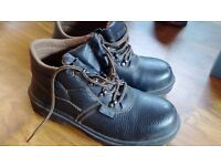 Brown Leather Contractor Work Boots UK size 5