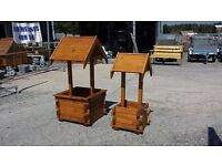 WOODEN WISHING WELL PLANTER GARDEN KIDS TOYS ROCKING HORSE SEE-SAW BENCHES PICNIC TABLES FURNITURE