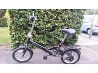 Apollo black folding bike/bicycle for sale  Essex