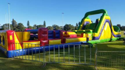Ultimate Obstacle Course Bouncy Castle Jumping Castle Hire Port Kennedy Rockingham Area Preview