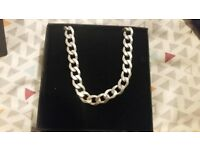 Mens 21in Sterling Silver Curb Chain