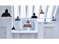 Black pendant light fitting 'Made by Hand' Workshop Lamp W4