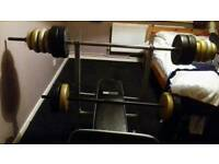 Weight bench & Cross trainer