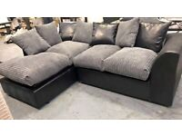 BRAND NEW BYRON JUMBO CORD CORNER & 3+2 SEATER SOFA SET AVAILABLE IN STOCK