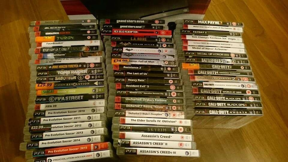 Boxed ps3,120mg, 1 controller and 59 games.