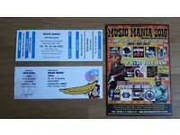 Music Mania Festival 2016. 3 days with camping included - 1 x adult and 1 free child ticket