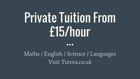 Lambeth Tutors - £15/hr - Maths, English, Science, Biology, Chemistry, Physics, GCSE, A-Level