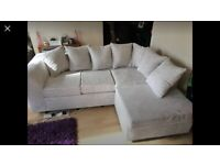 NEW CREAM BYRON JUMBO CORDED CORNER SOFA AVAILABLE IN BOTH SIDES & 3+2 SOFA SET ALSO AVAILABLE