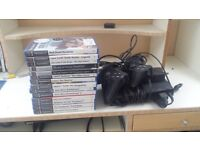 Playstation2 with games and controllers