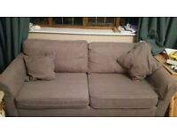 2 seat sofa , brown , good condition
