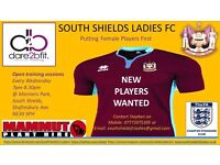 Ladies football team in South Shields requires players of all abilities 16+