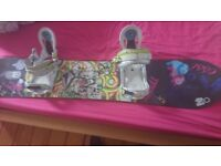 Apo snowboard, rare graphics, 148 women's