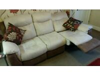 DFS logan range 3 and 2 seater reclining sofas